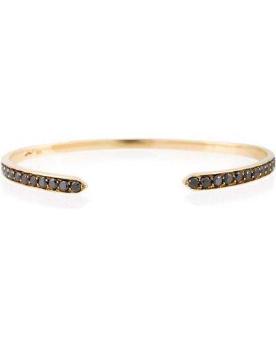Золотистый желтый золотой браслет с бриллиантом Lizzie Mandler Fine Jewelry