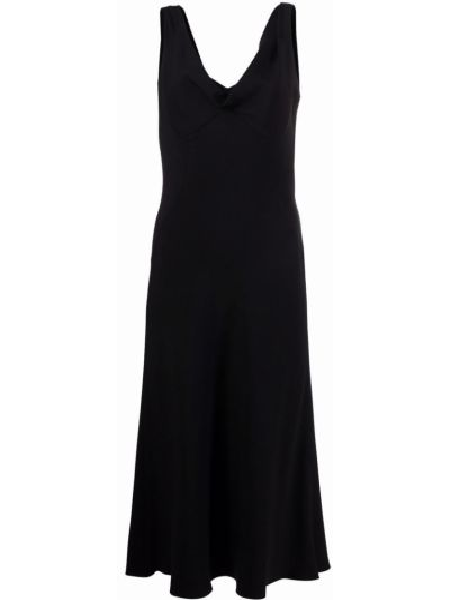 Платье без рукавов - черное Alberta Ferretti
