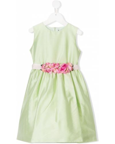 Зеленое платье с рукавами Lesy