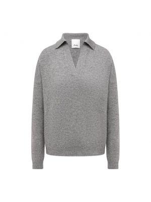 Трикотажный пуловер - серый Allude