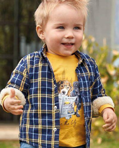 Рубашка с узором текстильный Mayoral