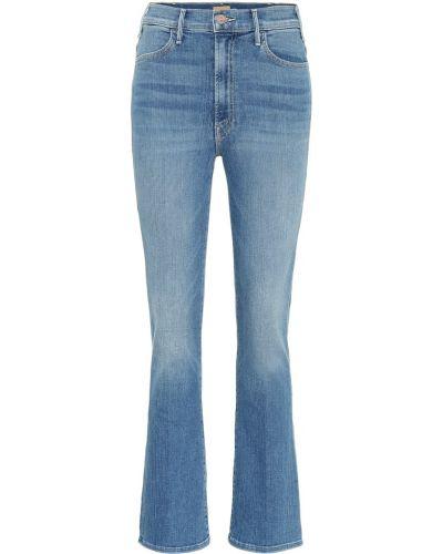 Укороченные джинсы mom синие Mother