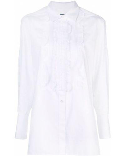 Рубашка с длинным рукавом белая с оборками Alexa Chung