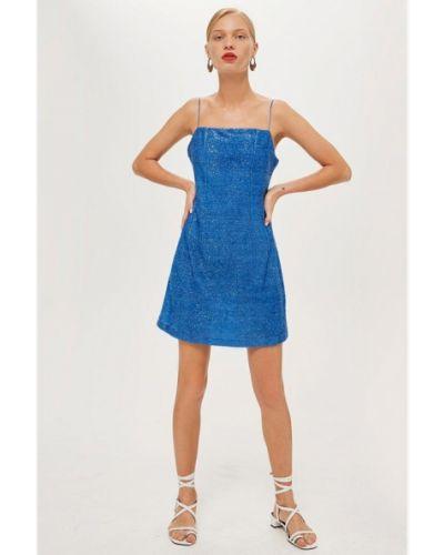 Платье с открытыми плечами осеннее Topshop
