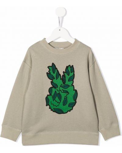Zielona bluza z printem Stella Mccartney Kids