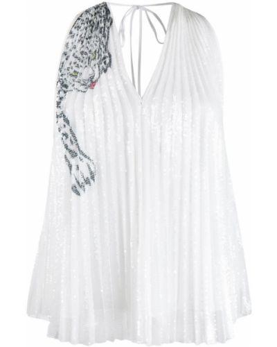 Блузка без рукавов с пайетками винтажная Krizia Pre-owned