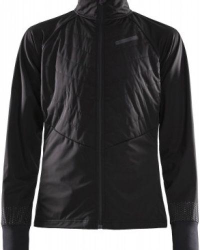 Приталенная черная куртка для бега Craft