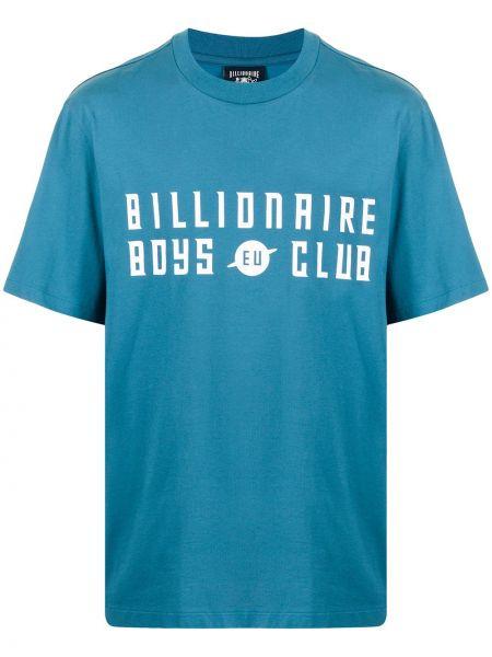 Синяя футболка короткая Billionaire Boys Club