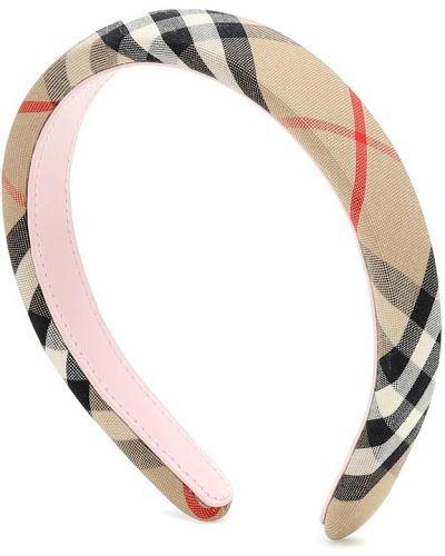 Bawełna beżowy opaska na głowę zabytkowe z obrazem Burberry Kids