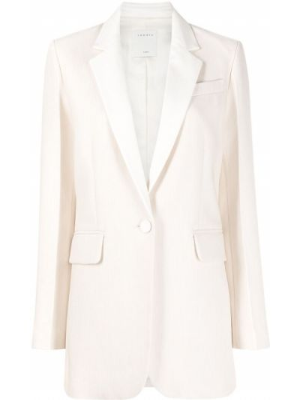Однобортный удлиненный пиджак с подкладкой на пуговицах Sandro Paris