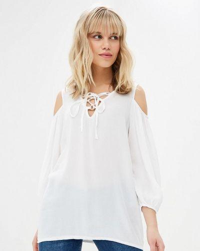 Блузка с открытыми плечами белая Almatrichi