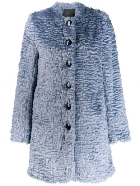Синее длинное пальто Steffen Schraut