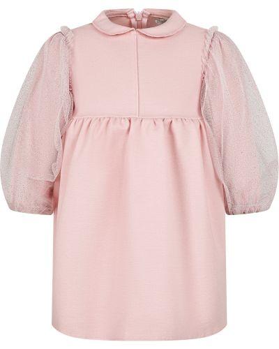 Розовое платье из вискозы Il Gufo