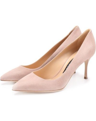 Туфли-лодочки кожаные замшевые Sergio Rossi