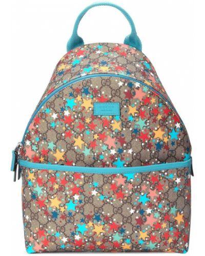 Beżowy plecak z printem Gucci Kids