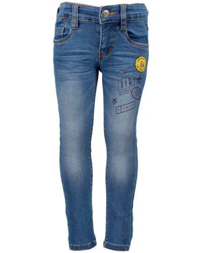 Синие джинсы с заклепками с кокеткой Blue Seven