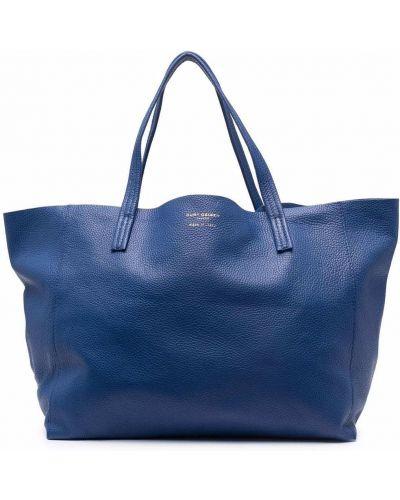 Niebieska torebka skórzana Kurt Geiger London