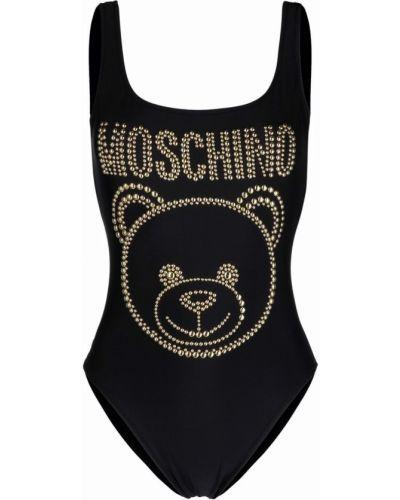 Пляжный черный купальник с шортами без рукавов Moschino
