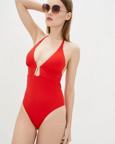 Красный слитный купальник Love's Swimwear