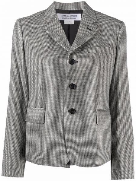 Шерстяной серый однобортный классический пиджак Comme Des Garçons Comme Des Garçons