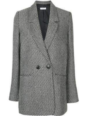 Шерстяной черный пиджак с карманами с лацканами Anine Bing