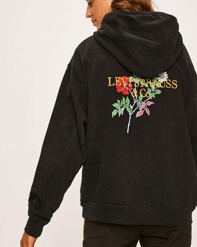 Черная кофта с аппликациями с капюшоном Levi's®