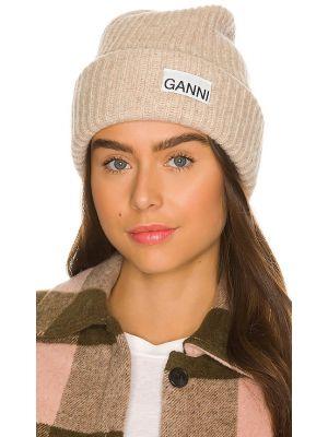 Шерстяная шапка бини Ganni