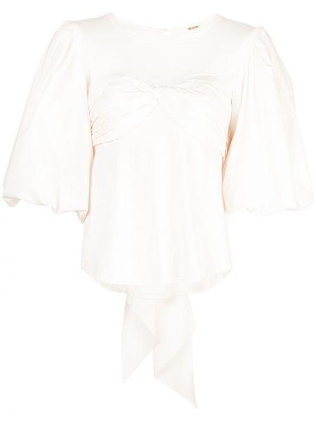 Блузка с пышными рукавами с вырезом Johanna Ortiz