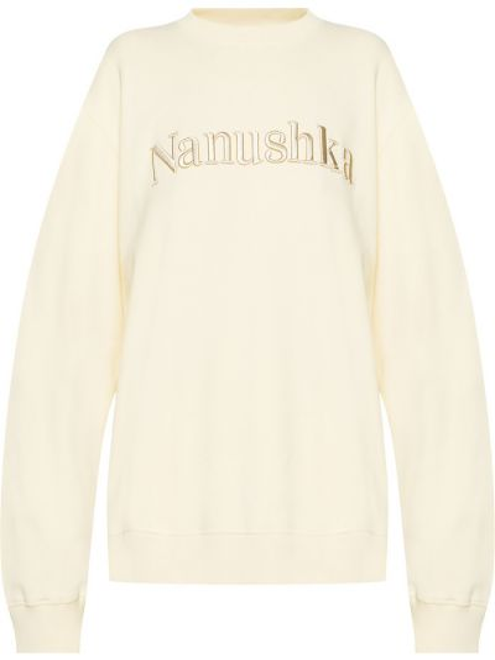 Beżowa bluza dresowa Nanushka