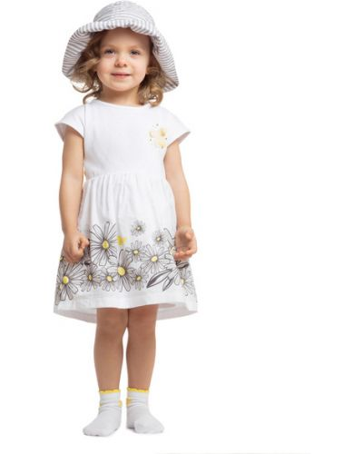 Пышное платье с рукавами хлопковое Playtoday Baby