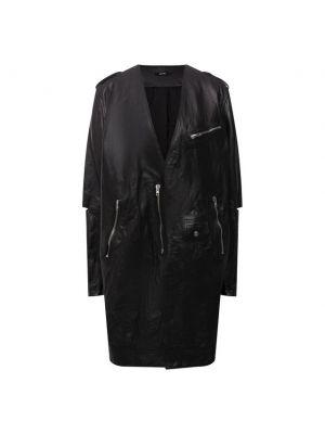 Кожаная куртка из полиэстера - черная Isabel Benenato