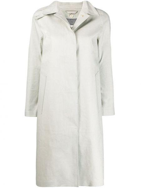 Шерстяное пальто с капюшоном свободного кроя Mackintosh