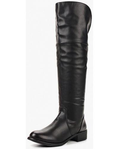 Кожаные сапоги осенние черные Fersini