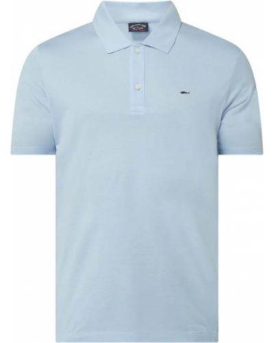 Niebieski t-shirt bawełniany Paul & Shark