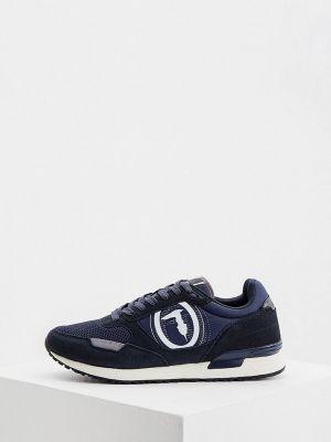 Синие зимние низкие кроссовки Trussardi