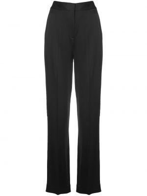 Черные расклешенные брюки с карманами из вискозы Jason Wu Collection