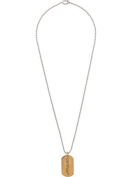 Naszyjnik metal złoto Off-white