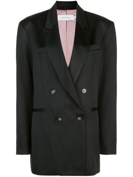 Черный пиджак двубортный с карманами Marques'almeida