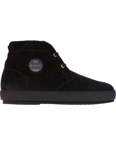 Шерстяные ботинки - черные Baldinini