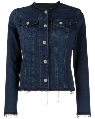 Хлопковая синяя джинсовая куртка на пуговицах 7 For All Mankind