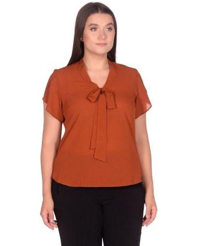 Шифоновая блузка с воротником с V-образным вырезом Blagof