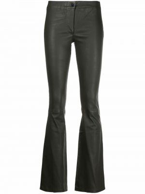 Кожаные брюки - зеленые Arma