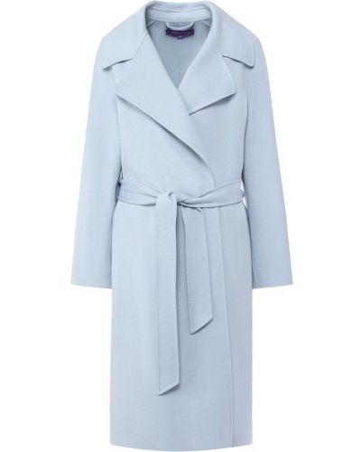 Пальто голубое шерстяное Ralph Lauren