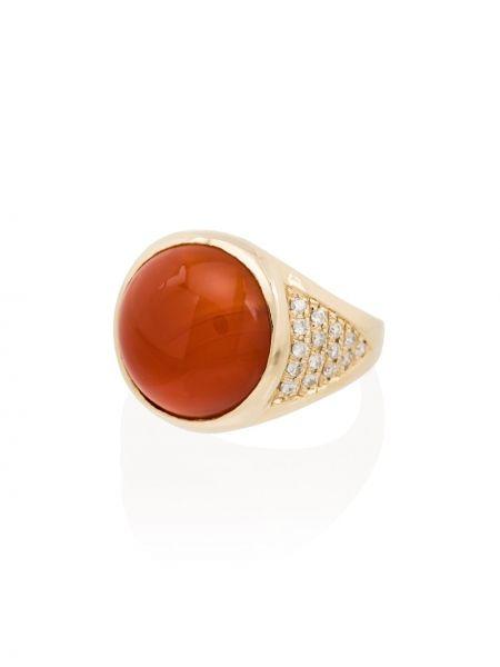 Оранжевое кольцо с бриллиантом без застежки Jacquie Aiche