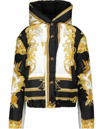 Белая дутая куртка Versace