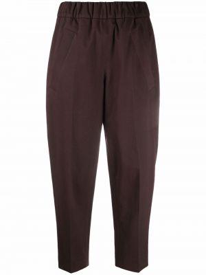 Коричневые брюки на шпильке Tela