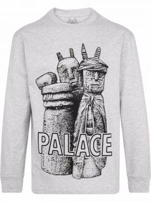 Хлопковая футболка - серая Palace