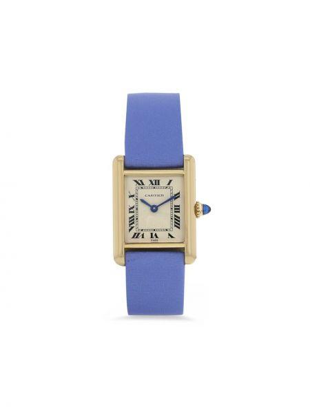 Niebieski złoty zegarek szafir Cartier
