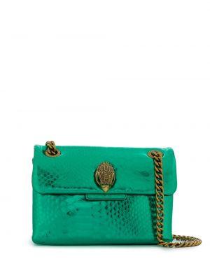 С ремешком кожаная зеленая сумка через плечо Kurt Geiger London