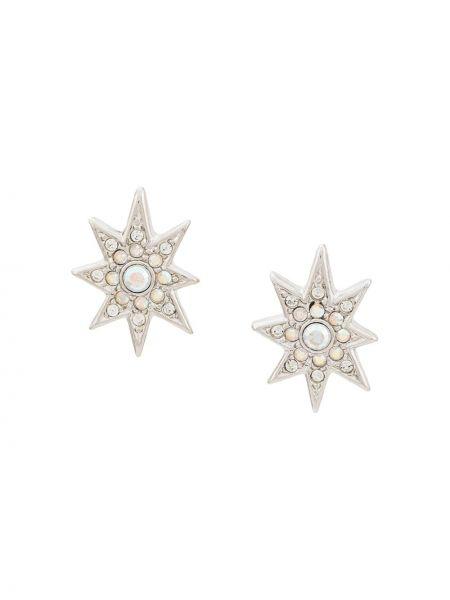 Серьги серебристые - серебряные Christian Dior Pre-owned